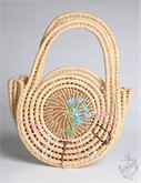 1980's straw bag