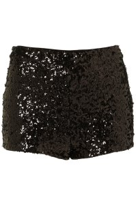 Black sequin knicker shorts