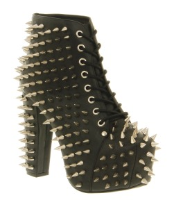 Jeffrey Campbell Lita all over spike black leather