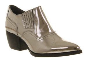 Office Break of dawn pewter metallic leather