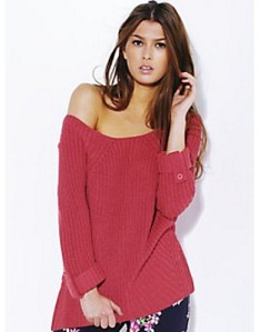 Love Label Button Knitted Jumper