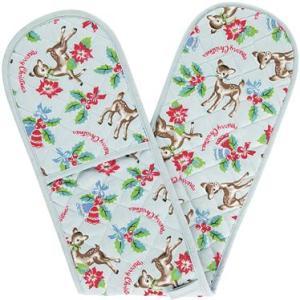 Cath Kidston Christmas Deer Double Oven Glove