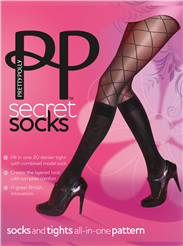Pretty Polly Patterned Knee Sock Tights