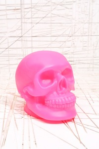 Neon Pink Skull Lamp
