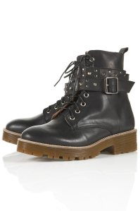 ABOUT STUD LACE UP BOOTS